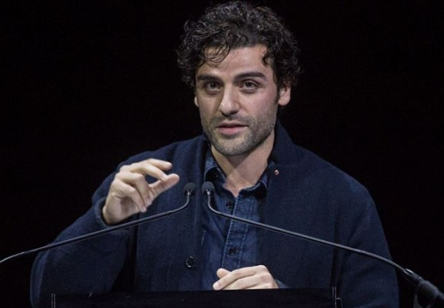 Oscar Isaac read Alex Guiness' letter to a rapt audience  (Picture: Rex)