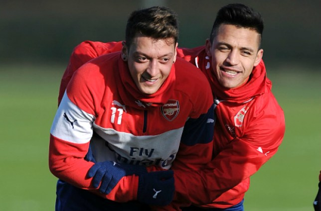 ST ALBANS, ENGLAND - JANUARY 24: of Arsenal during a training session at London Colney on January 24, 2015 in St Albans, England. (Photo by Stuart MacFarlane/Arsenal FC via Getty Images)