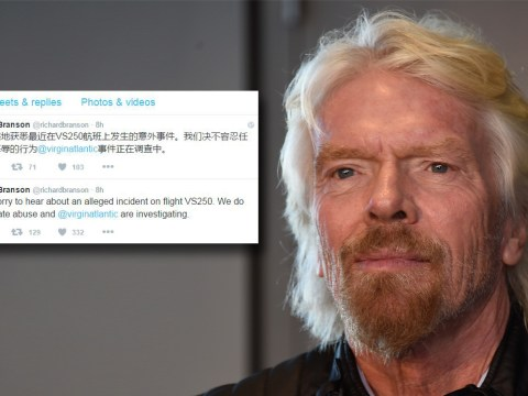 Richard Branson apologises to woman called 'Chinese pig' on Virgin flight