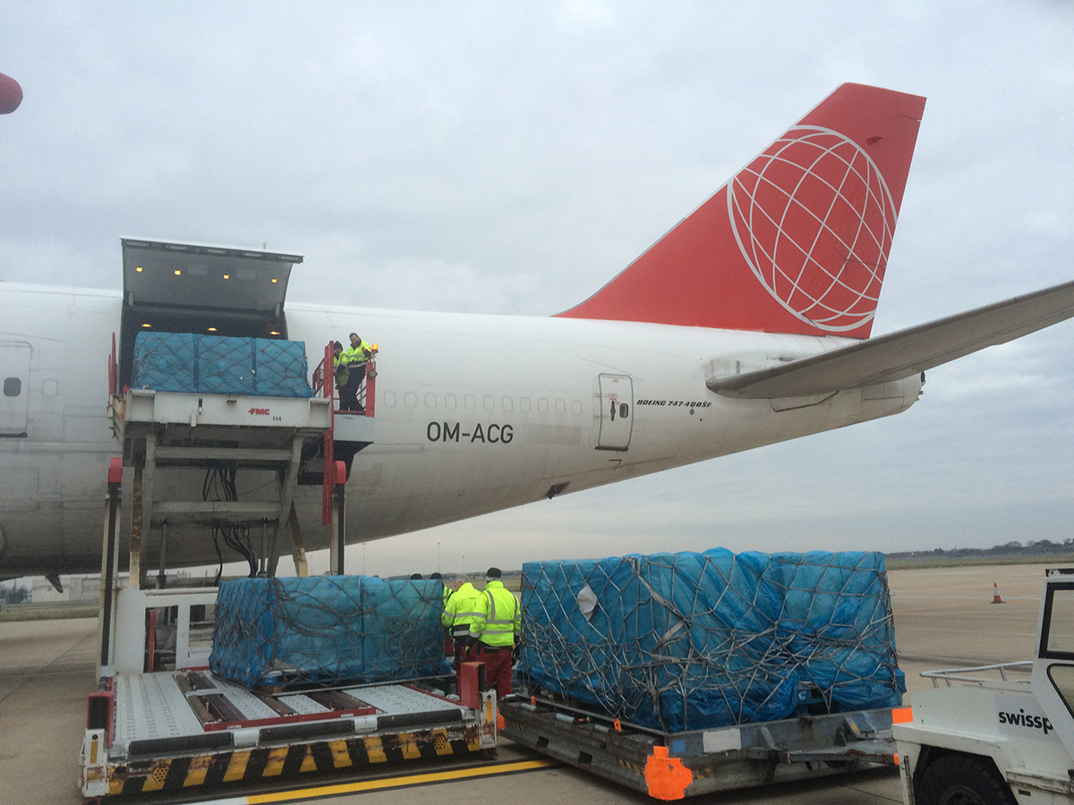 Planes full of biscuits are being flown into Doncaster Sheffield Airport to help ease the UK's biscuit shortage. See Ross Parry copy RPYCOOKIE : One of the country's biggest biscuit factories, McVitie's in Carlisle, was left damaged by the floods over Christmas, resulting in a national biscuit shortage. Two Boeing 777 aircraft have flown into South Yorkshire in the last two weeks with a cargo full of cookies.
