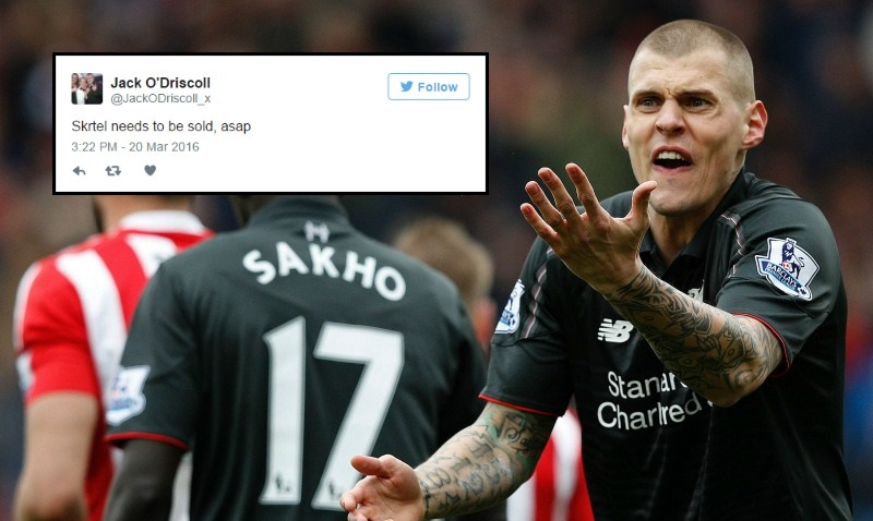 Liverpool fans want Jurgen Klopp to sell Martin Skrtel now after shocking Southampton display