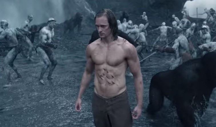Alexander Skarsgaard stars as the legendary jungle king Picture: YouTube)