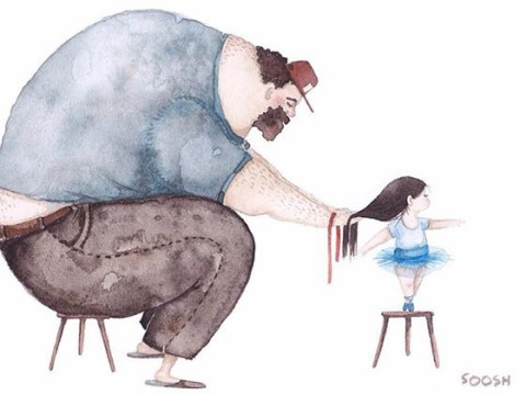 Sweet illustrations celebrate the bond between dads and their daughters