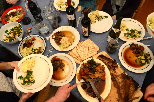 A table spread for a Passover seder meal (Picture: Getty Images)