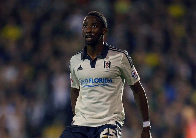 LONDON, ENGLAND - OCTOBER 21: Moussa Dembele of Fulham during the Sky Bet Championship match between Fulham and Leeds United at Craven Cottage on October 21, 2015 in London, England. (Photo by Catherine Ivill - AMA/Getty Images)