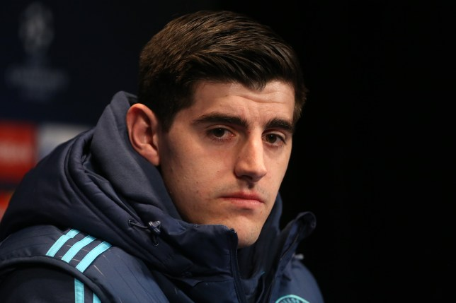 PARIS, FRANCE - FEBRUARY 15: Goalkeeper of Chelsea Thibaut Courtois answers to the media during a press conference on the eve of the UEFA Champions League match between Paris Saint-Germain (PSG) and Chelsea FC at Parc des Princes stadium on February 15, 2016 in Paris, France. (Photo by Jean Catuffe/Getty Images)