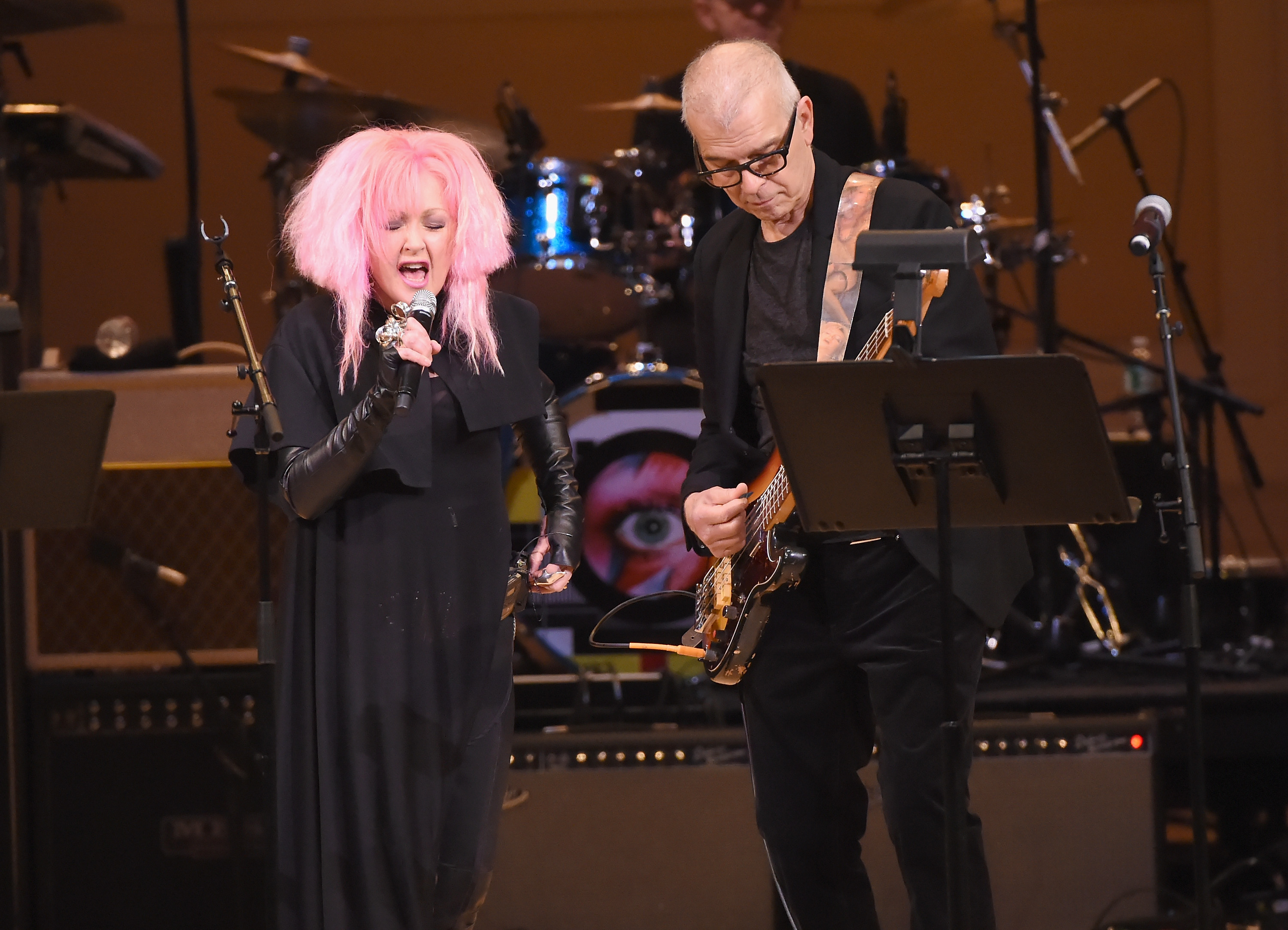 Debbie Harry, Cyndi Lauper and more pay tribute to David Bowie at special memorial concert