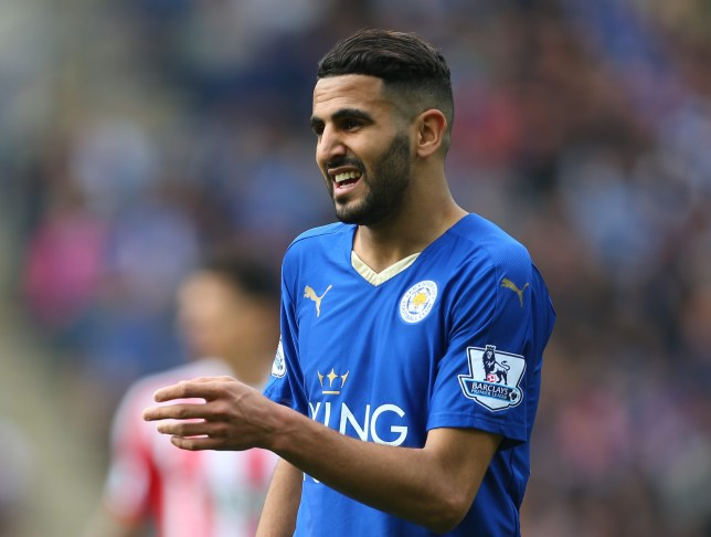 LEICESTER, ENGLAND - APRIL 03: Riyad Mahrez of Leicester City during the Barclays Premier League match between Leicester City and Southampton at The King Power Stadium on April 3, 2016 in Leicester, England. (Photo by Catherine Ivill - AMA/Getty Images)
