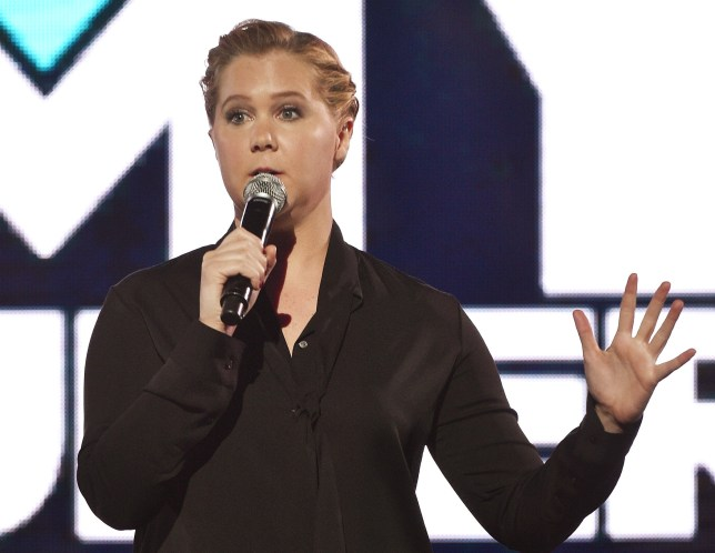 NEW YORK, NEW YORK - MARCH 31: Comedian Amy Schumer speaks onstage during the Comedy Central Live 2016 upfront at Town Hall on March 31, 2016 in New York City. (Photo by Bryan Bedder/Getty Images for Comedy Central)