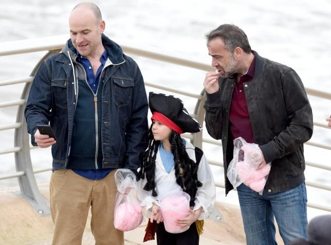 Mandatory Credit: Photo by MCPIX/REX/Shutterstock (5621199b)nJoe Duttine (Tim), Kyran Bowes (Jack) and Michael LeVell (Kevin)n'Coronation Street' on set filming, Blackpool, Britain - 29 Mar 2016nn