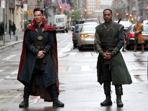 Benedict Cumberbatch is looking seriously cool in his Doctor Strange gear as filming continues