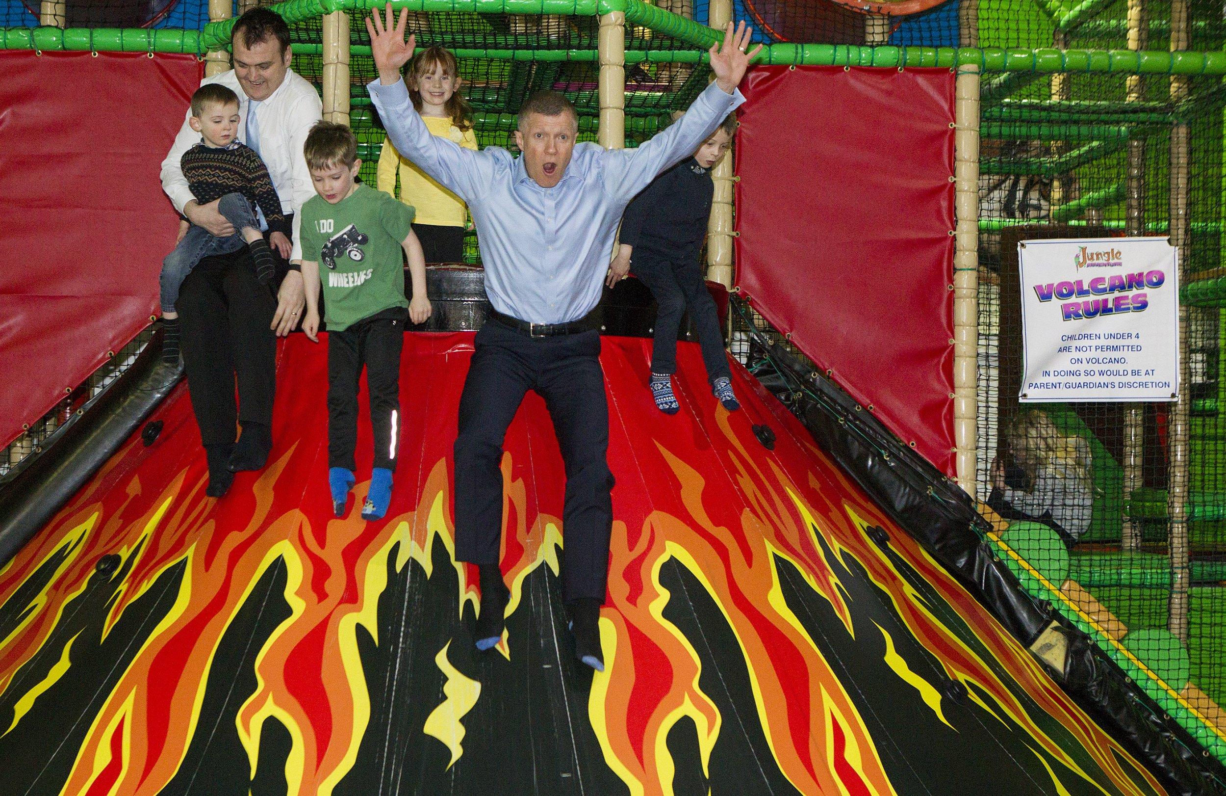 Scottish Lib Dems are really enjoying this massive inflatable volcano