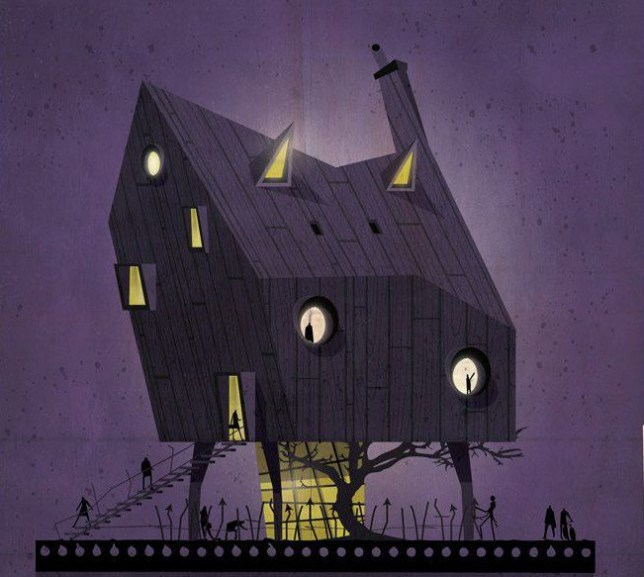 "Italian architect and illustrator Federico Babina has undertaken a very original and unusual design project. In a series of 27 illustrations titled 'Archidirector' he creates imaginary houses inspired by the personal style, characteristics and aesthetics of several renown film directors. His iconic house designs perfectly mirror each filmmakerís defined taste and personality, as according to Babina, the little details are those that mark both architectsí, as well as directorsí unique ìimprintî. To see more of Federico's amazing work visit him at the following: https://www.federicobabina.com https://www.facebook.com/federico.babina Artists press release: ARCHIDIRECTOR The directors are like the architects of cinema Loving cinema and architecture is easy to find similarities and parallels between the two disciplines. They are two worlds that sometimes observe each other from a distance and other meet and merge. The directors are like the architects of cinema. They are those that build stories that like buildings envelop the viewer and carry it in a different world. Each with their own style, language and aesthetics, think, plan design and build places and stories that host us for the duration of the movie. In these 27 illustrations I wanted to try to build 27 small stories imagining and shaping in architecture the aesthetics of 27 masters of cinema. 27 houses imagined and imaginary that like filmís frames are trying to relate and photograph a fragment of the imagination of some of the great ""architects"" of cinema. An abstract exercise of translating a language into another. Transposition and transformation of some characteristic elements of movieís language in forms and architectural geometries. In cinema every single detail of a film helps to build a unique and characteristic language of the artistic personality of a director. The same thing happens in architecture where even the smallest detail helps to shape the imprint of an architect. The costumes light color objects time can be turned into materials windows geometric structures and compositions to build a house made of ""celluloid"". The illustrations photographing and talking about directors with very different styles and aesthetics where the common denominator is a strong and defined personality. Walk the streets of a city made of illustrated architecture to make a short journey through the history of cinema. The architecture is like a scene from a movie where the story is the life, the script is dictated by the use of the building and where the actors are the residents. A labyrinth where all - characters, director, audience ñare lost and found in the intensity of their emotions. Featuring: Tim Burton Where: Italy When: 19 Apr 2016 Credit: Federico Babina (Supplied by WENN.com) **WENN does not claim any ownership including but not limited to Copyright, License in attached material. Fees charged by WENN are for WENN's services only, do not, nor are they intended to, convey to the user any ownership of Copyright, License in material. By publishing this material you expressly agree to indemnify, to hold WENN, its directors, shareholders, employees harmless from any loss, claims, damages, demands, expenses (including legal fees), any causes of action, allegation against WENN arising out of, connected in any way with publication of the material.**"