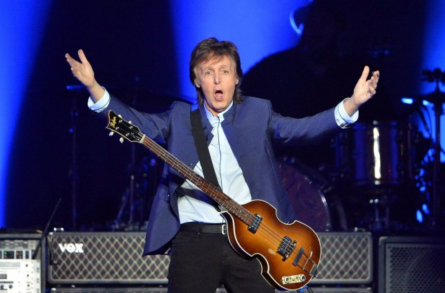 Mandatory Credit: Photo by ddp USA/REX/Shutterstock (5642291d)nSir Paul McCartneynPaul McCartney in concert at the Save Mart Center, Fresno, America - 13 Apr 2016nn