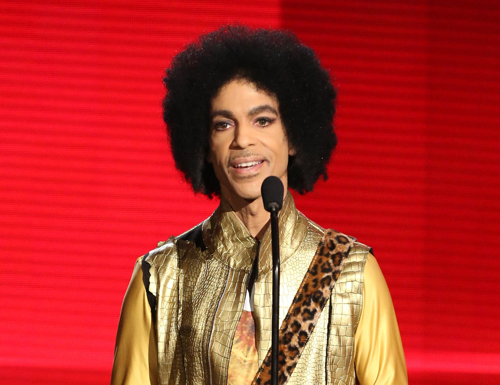 Prince presents the award for favorite album - soul/R&B at the American Music Awards in Los Angeles. Authorities are investigating a death at Paisley Park, where pop superstar Prince has his recording studios. Jason Kamerud, Carver County chief sheriff's deputy, tells the Minneapolis Star Tribune that the investigation began on Thursday morning, April 21, 2016. (Photo by Matt Sayles/Invision/AP, File)