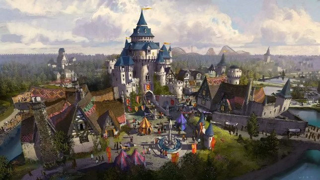 One of the visuals prepared for a Hollywood-styled fairground to rival Disneyland being planned for Kent. See SWNS story SWTHEME; Britain is set to become home to the world's greatest theme park - a Hollywood-styled fairground to rival Disneyland. The brand new £2 billion Hollywood theme park is planned for the outskirts of London, and could bring 50,000 tourists a day. The London Paramount Entertainment Resort earmarked the Swanscombe Peninsula between Gravesend and Dartford in Kent for the new site, which could be open by as early as 2021. Financed by Kuwaiti European Holdings, owned by the Al-Humaidi family, it is expected to bring 27,000 jobs to Kent.