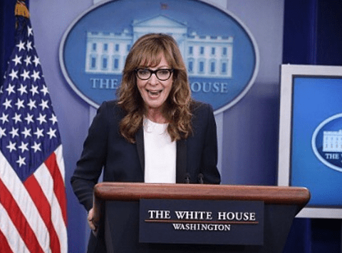 The West Wing Press Secretary CJ Cregg crashed the real White House