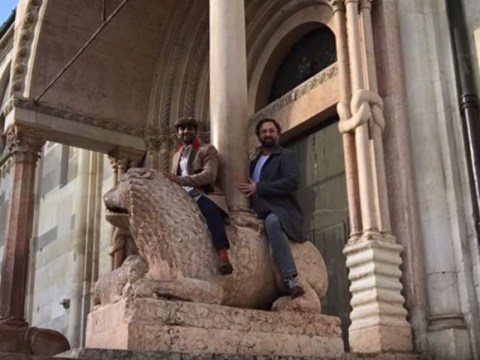 Aziz Ansari's spoof video for Kanye West's Famous has become the OFFICIAL music video