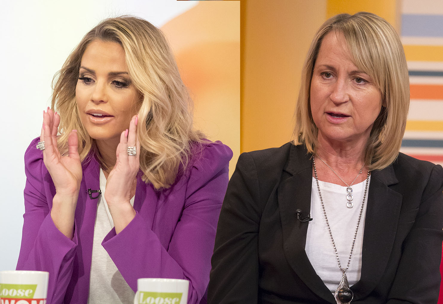 EDITORIAL USE ONLY. NO MERCHANDISING Mandatory Credit: Photo by Ken McKay/ITV/REX/Shutterstock (5618428as) Katie Price 'Loose Women' TV show, London, Britain - 23 Mar 2016