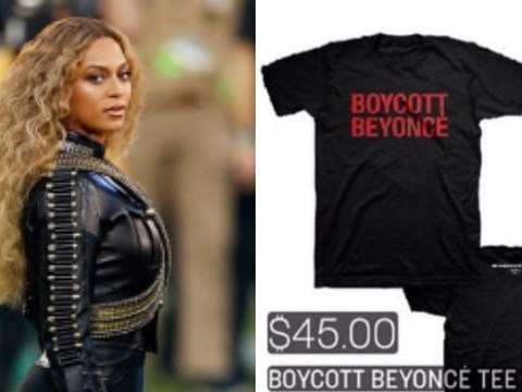Beyonce is selling 'Boycott Beyonce' merchandise at her Formation World Tour