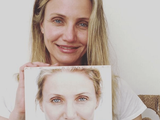 Cameron Diaz fights against the 'taboo' of ageing by posting a make-up free selfie