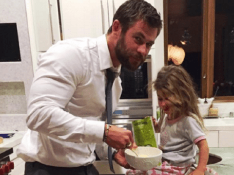 Here's how Chris Hemsworth reacted to his daughter telling him she wants a penis