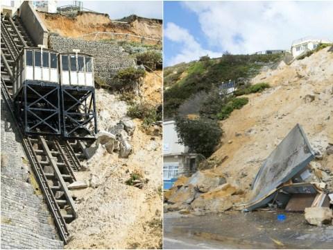 Landslide damages historic cliff-side lift