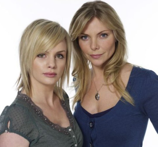 Television programmes: EastEnders. BBC Picture Shows: Danielle Jones [LAUREN CRACE] Ronnie Mitchell [SAMANTHA JANUS]
