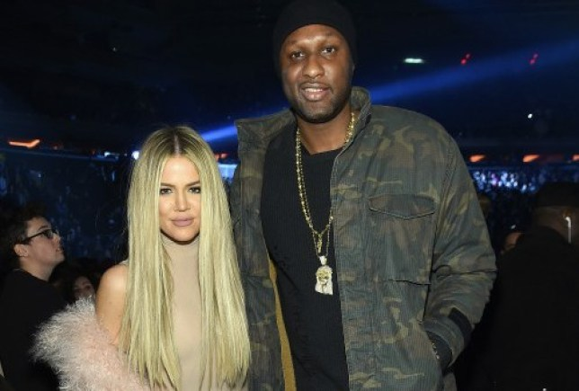Entrepreneur Khloe Kardashian and Basketball player Lamar Odom attend Kanye West Yeezy Season 3 on February 11, 2016 in New York City. (Photo by Jamie McCarthy/Getty Images for Yeezy Season 3)