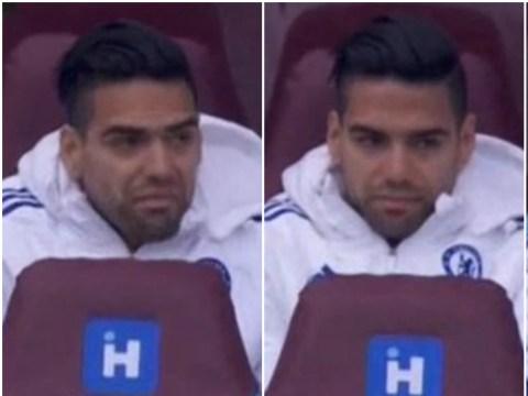 Alexandre Pato finally makes Chelsea debut – Radamel Falcao's hilarious reaction says it all