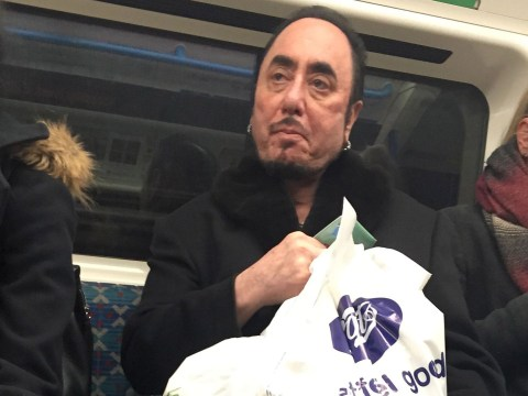 Is this the final ever picture of David Gest? Reality star was snapped on the Tube just days before his death