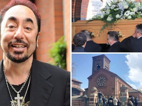 David Gest speaks at his own funeral as Kym Marsh and Darren Day pay tribute