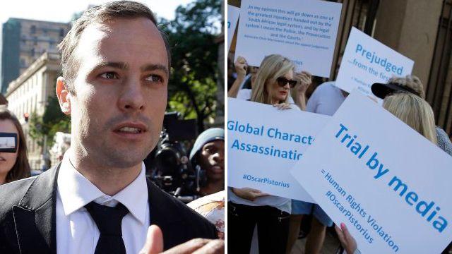 Pistorius fans are comparing him to Charlie Hebdo attack victims