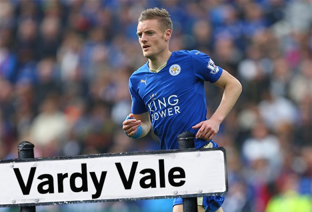 Leicester ready to name streets after their stars if they win the Prem LEICESTER, ENGLAND - APRIL 03: Jamie Vardy of Leicester City during the Barclays Premier League match between Leicester City and Southampton at The King Power Stadium on April 3, 2016 in Leicester, England. (Photo by Catherine Ivill - AMA/Getty Images)