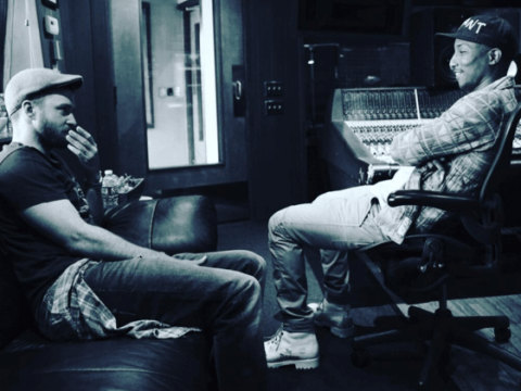 Justin Timberlake on being back in the studio with Pharrell Williams