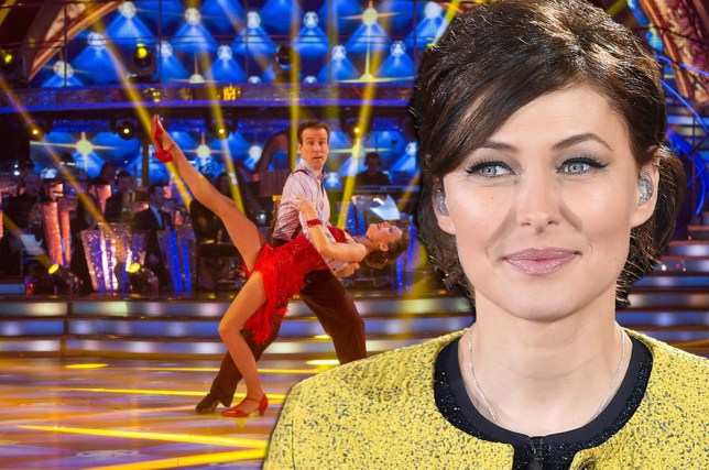 Television Programme: Strictly Come Dancing with Katie Derham and Anton Du Beke. Programme Name: Strictly Come Dancing 2015 - TX: 12/12/2015 - Episode: n/a (No. n/a) - Picture Shows: Katie Derham, Anton Du Beke - (C) BBC - Photographer: Guy Levy. **LIVE SHOW**