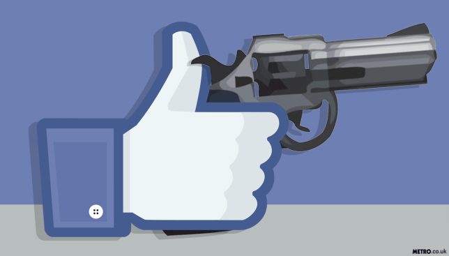 Facebook is apparently a giant online supermarket for weapons Picture: METRO/MylesGoode