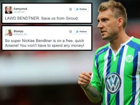 Arsenal fans want to replace Olivier Giroud with Nicklas Bendtner after Wolfsburg release striker