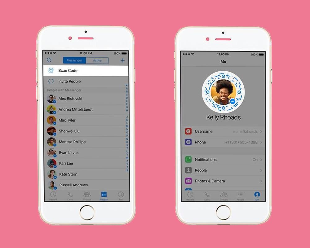 Facebook Messenger* lets you start a chat by scanning profile codes Credit: Facebook