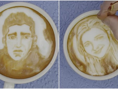 The One Where The Cast Of Friends All Get Their Faces Drawn In Coffee