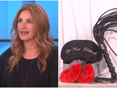 WATCH: Julia Roberts unwittingly sells kinky sex toys… really quite well