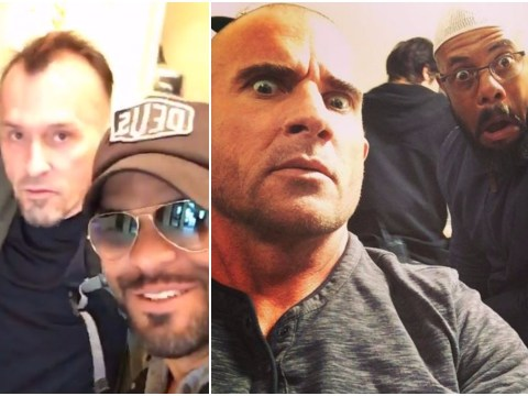 Prison Break's reprobates reunite for selfies and mugshots together as shooting on the big series five comeback continues