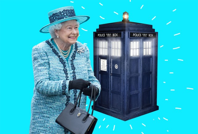 The Queen's 90 birthday: 12 of her adventures in space and time with Doctor Who BBC undated handout photo of the new-look Doctor Who's Tardis. Doctor Who fans have been left intrigued by the appearance of the St John Ambulance badge on the Tardis. PRESS ASSOCIATION Photo. Issue date: Tuesday April 21 2010. The logo has reappeared after more than 40 years, having been on the door of the police box in the early days of the show. The return of the sign was today revealed to be the work of new show boss Steven Moffat, who took over on this series. See PA story SHOWBIZ Who. Photo credit should read: BBC/PA Wire
