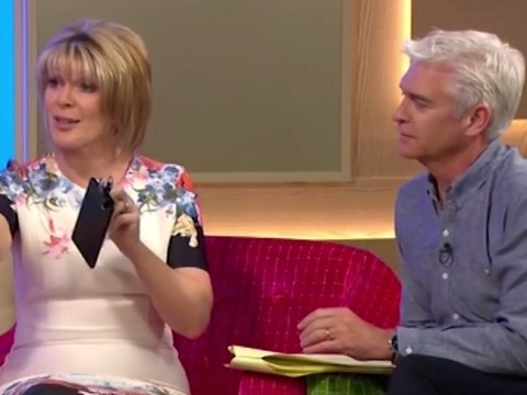 This Morning: Rylan giggles as Britain's Got Talent magician Richard Jones asks Ruth Langsford to 'sit on it for me'
