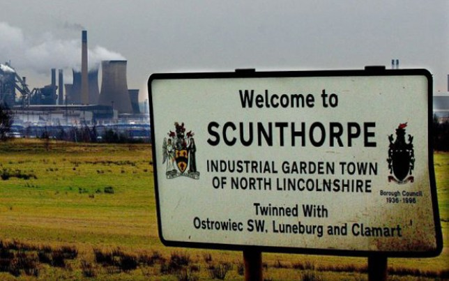 Scunthorpe. Officially hated by Facebook, it seems (Picture: PA)