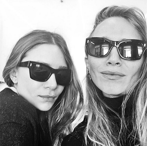 Pose: Mary Kate and Ashley took over the Sephora instagram feed for one day only, captioning a photograph 'First public selfie ever' (Picture: Sephora Instagram)