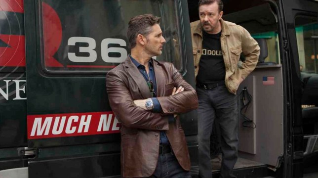 Eric Bana and Ricky Gervais in Special Correspondents (Picture: Netflix)