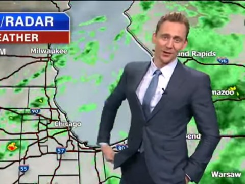 Tom Hiddleston just gatecrashed a local weather station to report on Thor's stormy weather