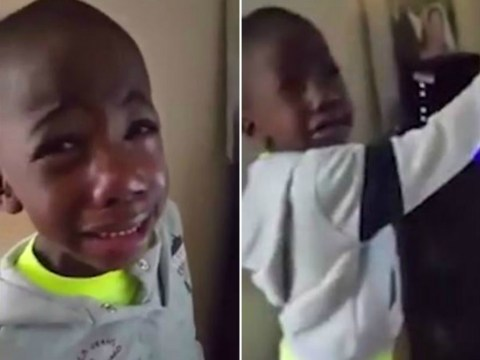Young Manchester United fan reduced to tears watching Louis van Gaal's side against Tottenham