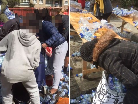 London Marathon: People seen 'taking bottled water left for runners from the side of the road'